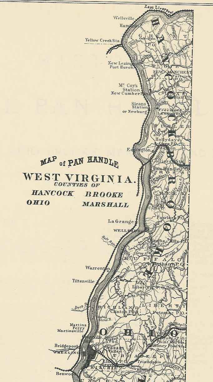 West Virginia County Map - Counties of va map