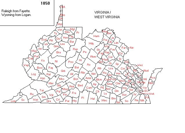 Maps - Map of west virginia counties