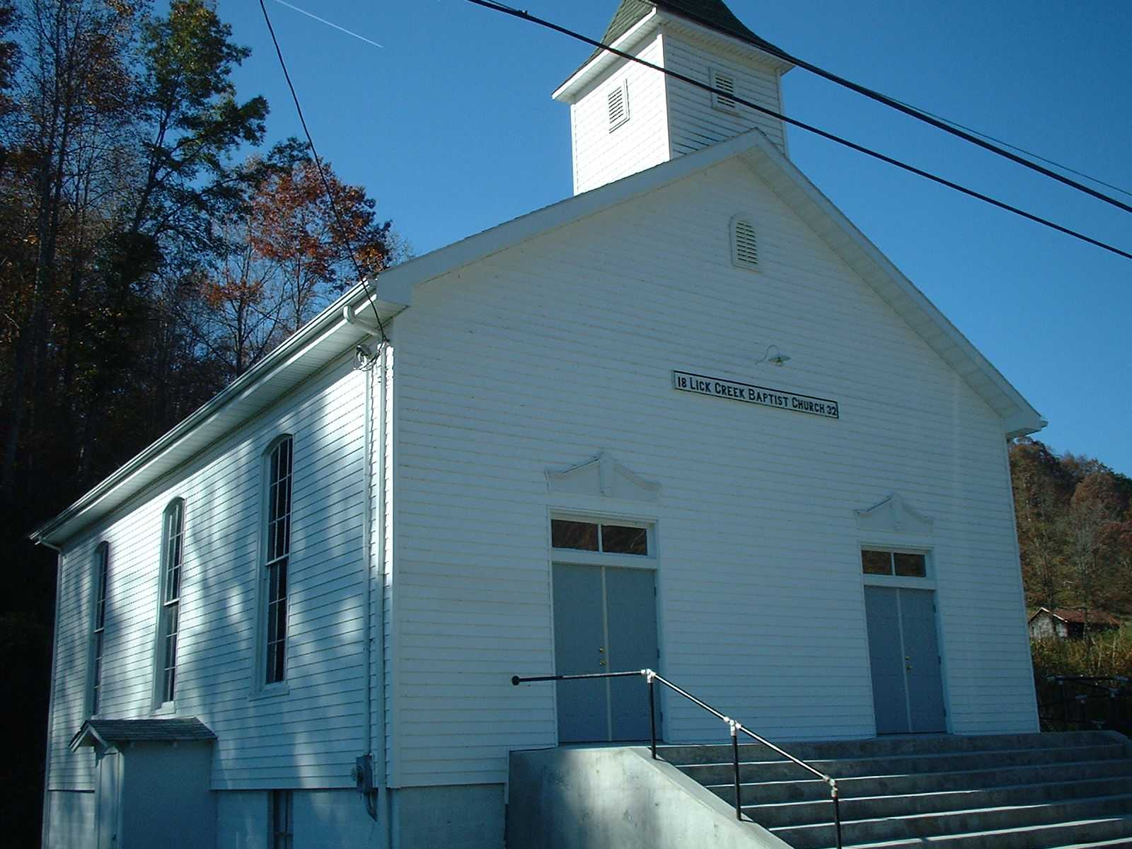 Lick creek baptist church